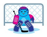 Bird is a hockey goalkeeper