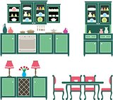 Set of kitchen furniture