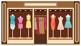Boutique. Women's clothing shop