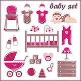 Scrapbook Elements With Baby Girl Things