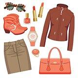 Fashion Set With Skirt And A Jacket