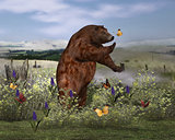 Brown Bear in Field