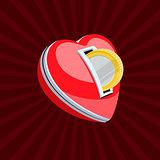 Love for money, vector Eps10 illustration.