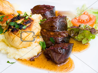 Traditional French cuisine Boudin Noir