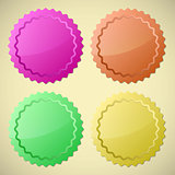 Set of colourful circle labels