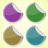 Set of colourful circle stickers
