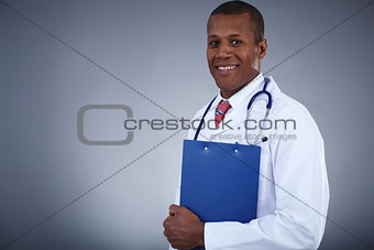 Clinician with clipboard