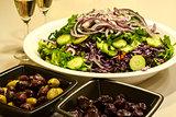 Salad dish, olives