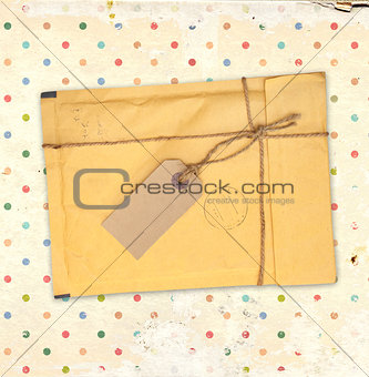 Old envelope with label