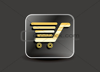 abstract shopping card button