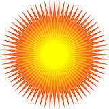 Sun with sharp lines