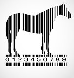 Barcode horse image vector illustration
