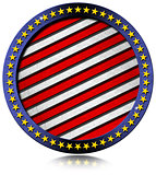 USA Metal Flag Round