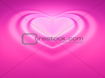 heart wave pink