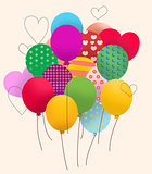 Balloons and hearts