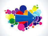 absract colorful arrow icon
