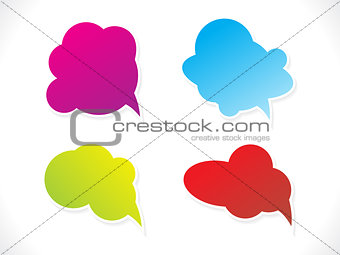 abstract multiple chat balloons