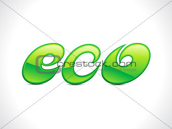 abstract green shiny eco text