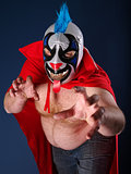Mexican wrestling portrait