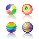 isolated color spheres