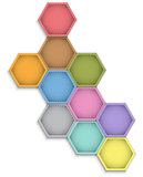Leather hexagons
