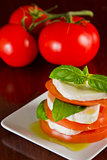 Fresh mozzarella and tomato salad