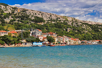 Adriatic town of Baska waterfront