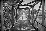 Old style iron river bridge