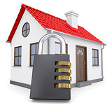 Combination lock locks the house