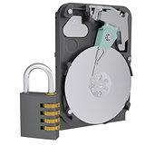 Code lock next to the hard drive