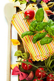 Raw colorful lasagna sheets