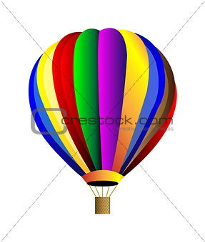 Vector hot air balloon