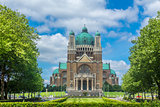 Basilica of the Sacred Heart and Parc Elisabeth Brussels Belgium