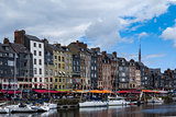 Honfleur harbor in Calvados France France