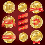 Satisfaction Guarantee and Warranty Badges and Labels