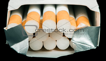 Box of cigarettes close up