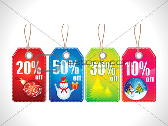 abstract multiple chrismas sale tag