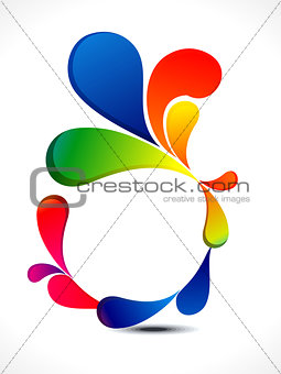 abstract colorful floral circle