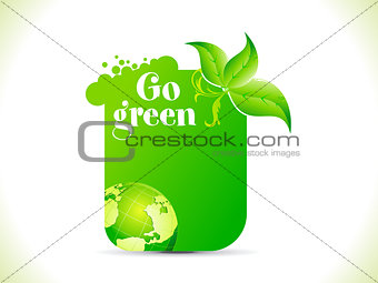 abstract go green template