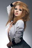 sensual rock woman posing