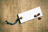 coffee beans and price tag