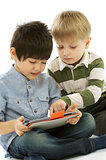 Two Boys with Digital Tablet PC