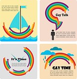 four gay icons, infographics