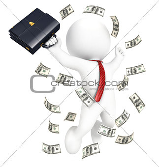 3d white people rich businessman