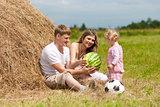 family in haystack