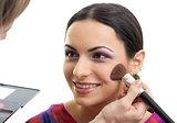 Makeup applying blusher