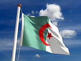 Algeria flag (with clipping path)