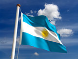 Argentina flag (with clipping path)