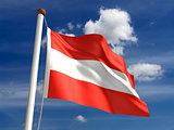 Austria flag (with clipping path)