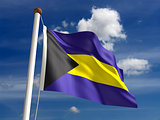 Bahamas flag (with clipping path)